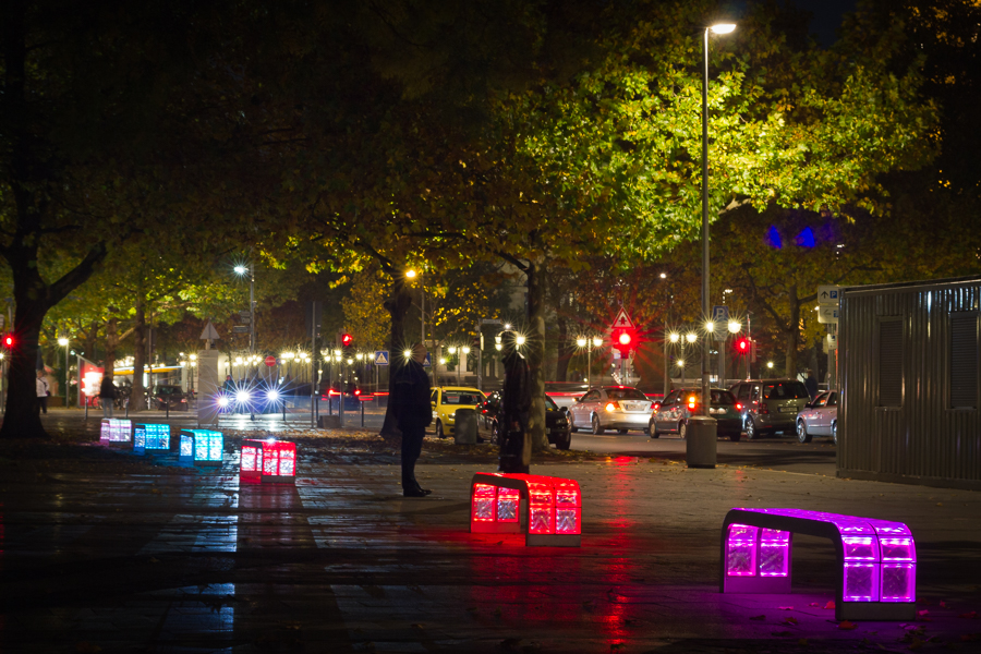 Georgstraße bei Nacht